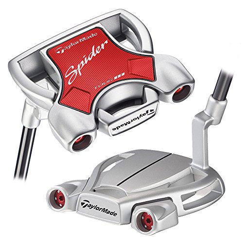TaylorMade 2018 Spider Tour Diamond Silver Putter (Left Hand, with Sightline, 34 Inches) (Diamond Controls Forward)