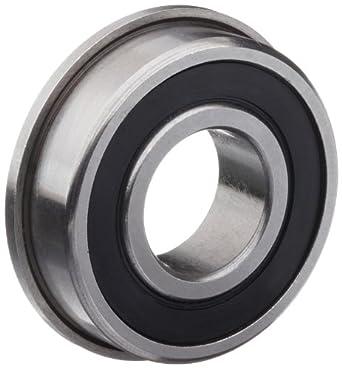 Dynaroll R-Series Ball Bearing, Double Sealed, Flanged, 52100 Chrome Steel