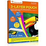 Bonsaii 3-layer Thermal Laminating Pouches,9 Inches x 11.5 Inches,3 Mil Thick,100 Pack
