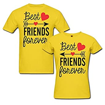 4960dde8a8 PepperClub Couple Tshirt Half Sleeve - Set of 2 - For Men and Women - Best  Friends Forever (BFF): Amazon.in: Clothing & Accessories