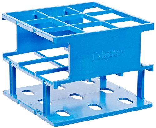 - Nalgene 5972-0330 Acetal Plastic Unwire Test Tube Half Rack for 30mm Test Tubes, Blue