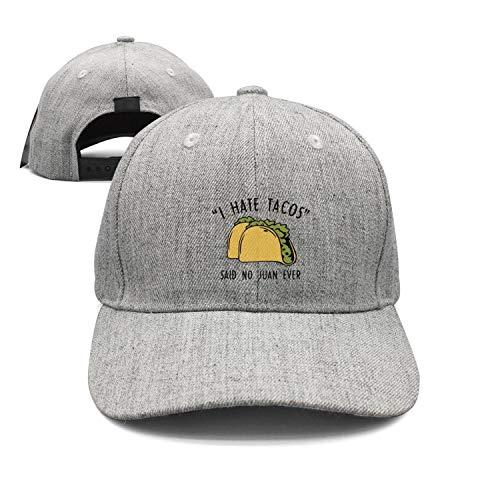 I Hate Tacos Said No Juan Ever Men's Hat Vintage Trucker hat Super Comfy Snapback Hats for Men Breathability Baseball Hat Strapback Hat
