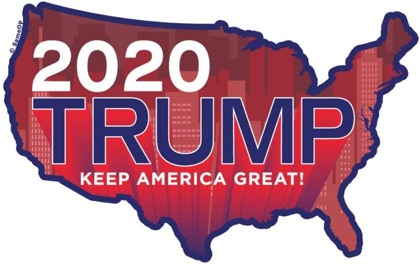 Trump Sticker | Vote 2020 Election USA | Apply to Water Bottle Decal Laptop Computer Cooler Bumper | America Map