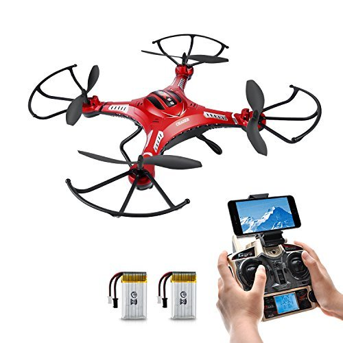 Drone with HD Camera Potensic F183W 4CH Six-Axis RC Quadcopter Drone 2MP Camera Helicopter FPV 2 4GHZ Phone Quadcopter with WiFi 360 Degree Rollover