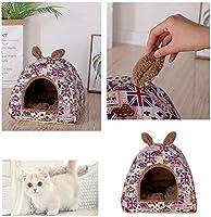 Shuda Cama para Mascotas Cama para Perro Gato Plegable Conejo Mascota Cálido Nido Cueva Sofá Casa Cama Black Friday Juguetes Hogar y Exterior 1Pcs 45X45X40CM: Amazon.es: Hogar