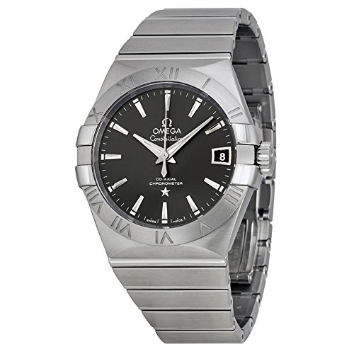 Omega Constellation Automatic Co-Axial Dark Grey Dial Stainless Steel Unisex Watch 12310382106001