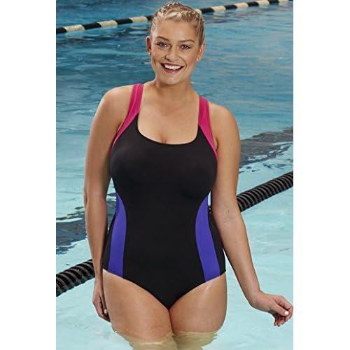 7bac2d08a1006 60%OFF Aquabelle Women s Chlorine Resistant Xtra Life Lycra Freestyle  V-Back Swimsuit