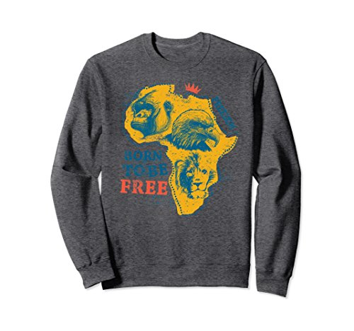 Unisex Africa Sweatshirt Proud African Country Flags Safari Love XL: Dark Heather