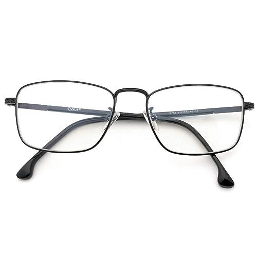 Cyxus Blue Light Filter [Anti Eye Strain] Computer Glasses, Unisex(Mens/Womens) Blocking UV Reading Eyewear (Transparent Lens)