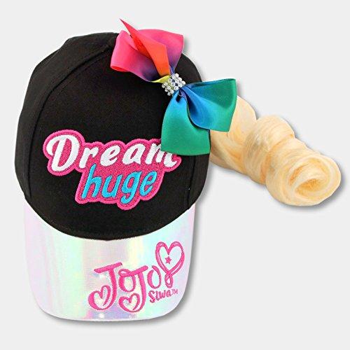 Blonde Baseball - Jojo Siwa Baseball Cap Rainbow Bow & Blonde Hair extension