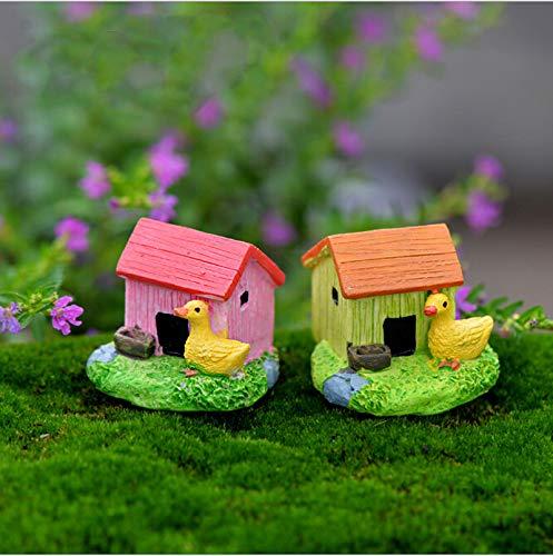 STORE-DECORATIVE - Animal House Figures Miniature Figurine for mini fairy garden Aquarium fish tank animal statue resin craft TNB047 by STORE★DECORATIVE★ (Image #2)