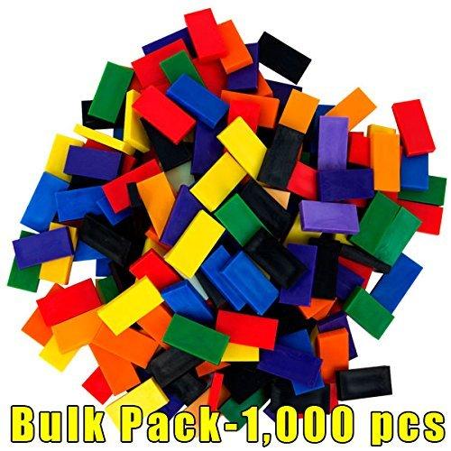 Pack Dominoes (Bulk Dominoes plastic Mixed Bulk Pack 1,000pcs)