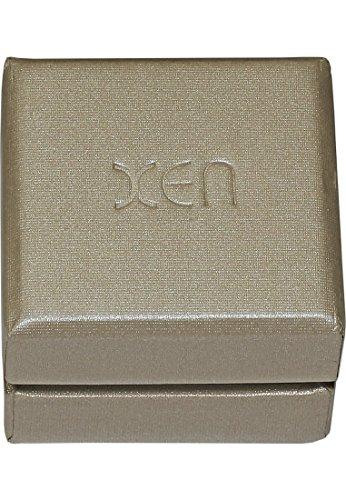 Xen-Bague Femme-Acier inoxydable 1diamant: 0,03ct. (Argent)