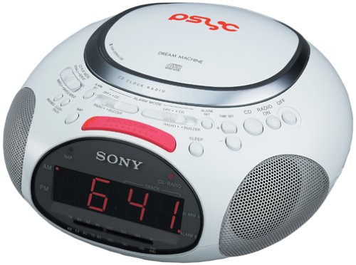 Sony ICF-CD832PS Psyc CD / AM / FM Stereo Clock Radio (White)