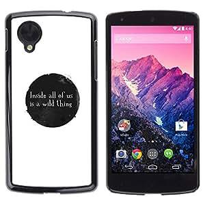 Caucho caso de Shell duro de la cubierta de accesorios de protección BY RAYDREAMMM - LG Nexus 5 D820 D821 - MENSAJE LO SALVAJE