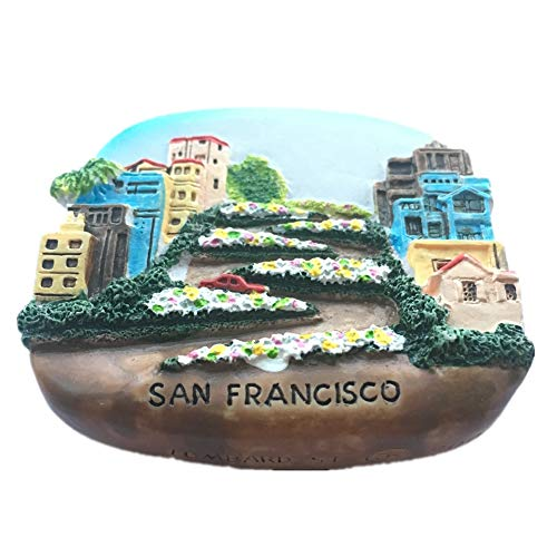 Lombard Street San Francisco America USA Fridge Magnet