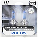 Philips 12972CVB2 H7 CrystalVision Ultra Upgraded Headlight Bulb, 2 Pack