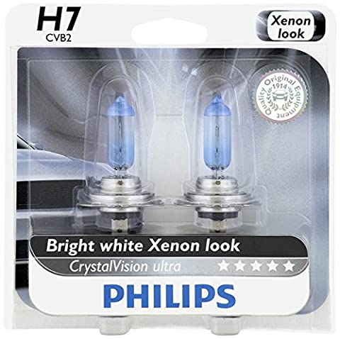 Philips H7 CrystalVision Ultra Upgrade Headlight Bulb, 2 Pack - Chrysler Pacifica Headlight Replacement