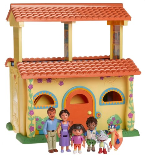 [Dora Explorer: Dora's Talking Dollhouse w/Lights, Sounds, Music & Diego, Boots, Swiper - Exclusively at] (Dora Diego And Boots)