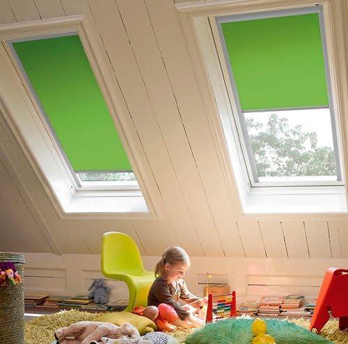 Profilfarbe Wei/ß Unbekannt Verdunkelungsrollos f/ür Roto Fenster Sun Collection auch mit silbernen Profilen erh/ältlich