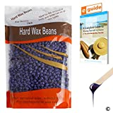 Plazuria Hair Removal Hard Wax Beans, Stripless Full-Body Depilatory Wax Beads Lavender (10oz)