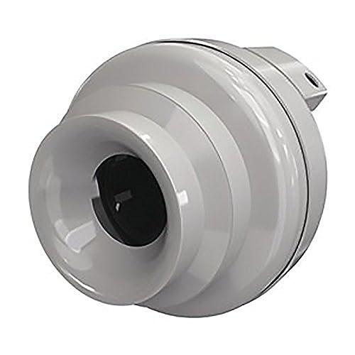 Fantech FR 125 Inline Centrifugal Duct Fan, Molded Housing, 5 , 148 CFM
