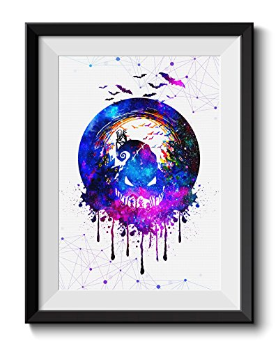Christmas Paintings - Uhomate Jack and Sally Nightmare Before Christmas Home Canvas Prints Wall Art Anniversary Gifts Baby Gift Inspirational Quotes Wall Decor Living Room Bedroom Bathroom Artwork C027 (8X10)