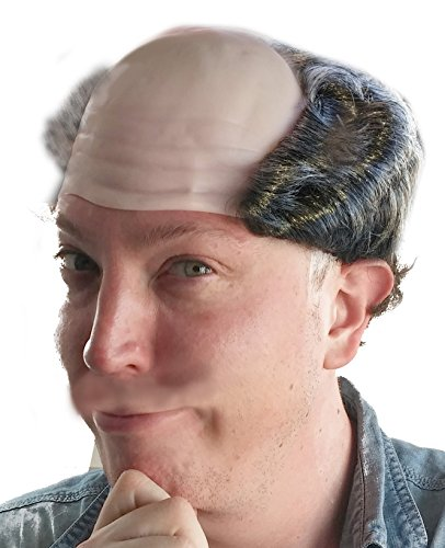Balding Grey Salt and Pepper Costume Wig for Men -