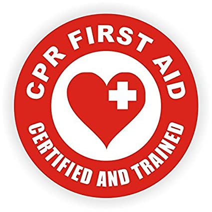 CPR First Aid Certified Trained Hard Hat Sticker / Helmet Decal ...