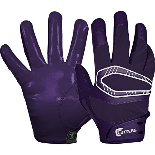 Cutters Adult Rev Pro Receiver Gloves (Purple) - SMALL