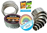 K&S Artisan The BEST Heavy Duty Pastry Cookie Cutters 11 Piece Round Biscuit Cutter Set For Dough Donuts English Muffins Fondant Circles Crumpet Rings And Baking 304 Stainless Steel Metal Circle Molds