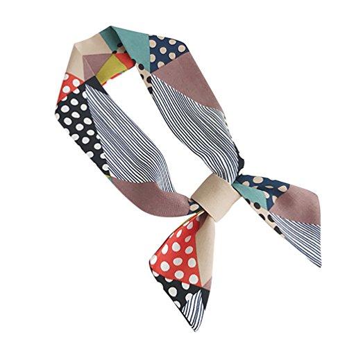 Scarf Stripe 3 (Yamalans Fashion Thin Stripes Scarf Choker Headwear Handbag Handle Decor Scarf (3#))
