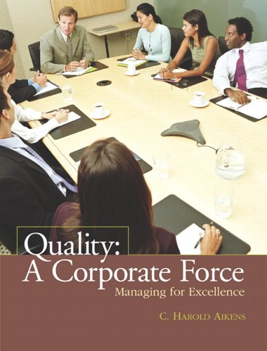 Quality: A Corporate Force, Managing for Excellence