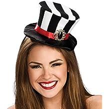 Rubie's Costume Co Women's Black and White Striped Mini Top Hat