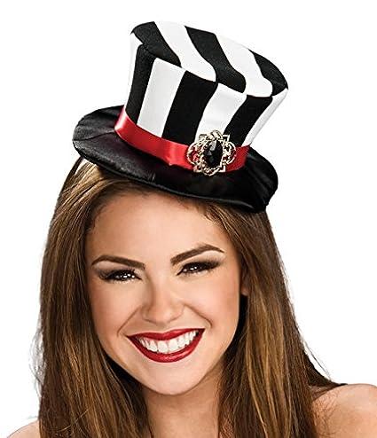 6298df50942 Amazon.com  Rubie s Women s Black and White Striped Mini Top Hat ...