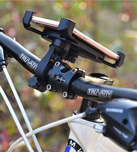 Bike Mount Premium Bike Universal Mobile Phone Holder,For A 3.5 7 Inch Screens Outdoor Sports Sike Riding Mountain Bike Mobile Phone Holder(Black)
