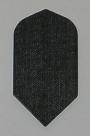 US Darts - 3 Sets (9 Flights) Black Nylon Slim Dart Flights - Cloth, Fabric, Ripstop