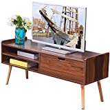 46 tv console - Dland TV Stand WF-TVG002WT, 2-Shelf & 1-Drawer, 46