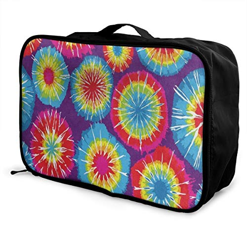 b0c7c6a3c40e Travel Bags Colorful Tie Dye Area Portable Storage Hot Trolley Handle  Luggage Bag