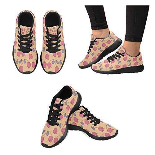 InterestPrint Womens Road Running Shoes Jogging Lightweight Sports Walking Athletic Sneakers Tropic Leaves kTIncFebH