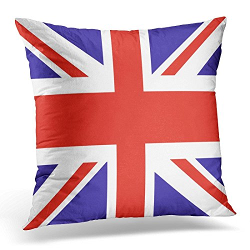 SPXUBZ Blue Jack Uk Flag Red Union British Decorative Home Decor Square Indoor/Outdoor Pillowcase Size: 20X20 Inch(Two Sides) (Best Feather Pillows Uk)