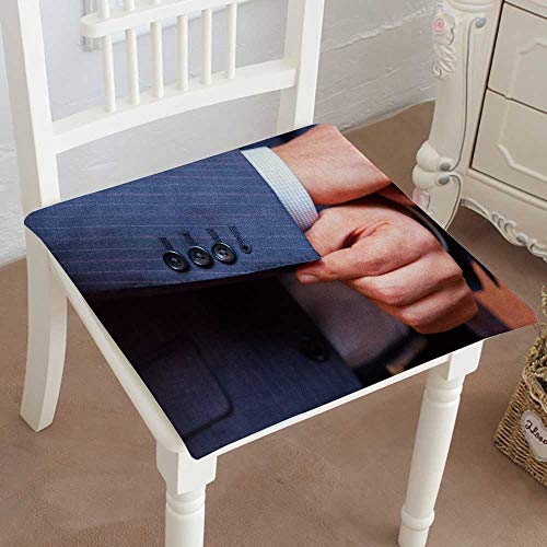 Mikihome Premium Comfort Seat Cushion Dress Closeup Man in Blue Striped Jacket Correct Sleeves Cushion for Office Chair Car Seat Cushion 28