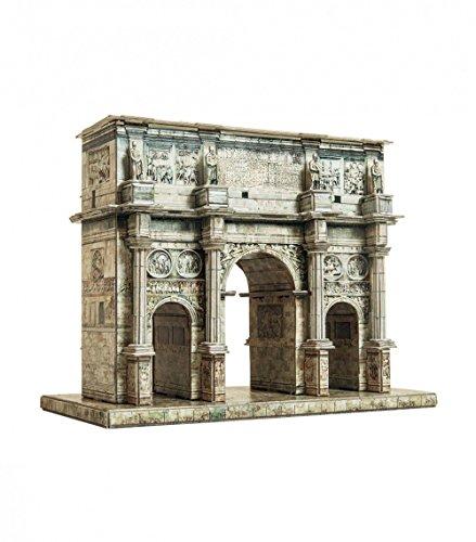 Keranova 350 Clever Paper 121 Piece Arch of Constantine, Roma, Italy 3D Puzzle, 16 x 8.5 x 13 cm, 1/180 Scale, Multi Color