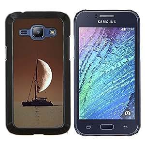 """Be-Star Único Patrón Plástico Duro Fundas Cover Cubre Hard Case Cover Para Samsung Galaxy J1 / J100 ( Marinero En El Mar Media luna"""" )"""
