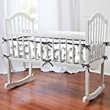 Carousel Designs Gray and Navy Deer Cradle Bumper