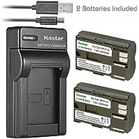 Kastar Battery (X2) & Slim USB Charger for Canon BP-511...