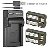 Kastar Battery (X2) & Slim USB Charger for Canon BP-511 BP-511A BP511 and EOS 5D 10D 20D 30D 40D 50D Digital Rebel 1D D60 300D D30 Kiss Powershot G5 Pro 1 G2 G3 G6 G1 Pro90 Optura 20, Grip BG-E2N