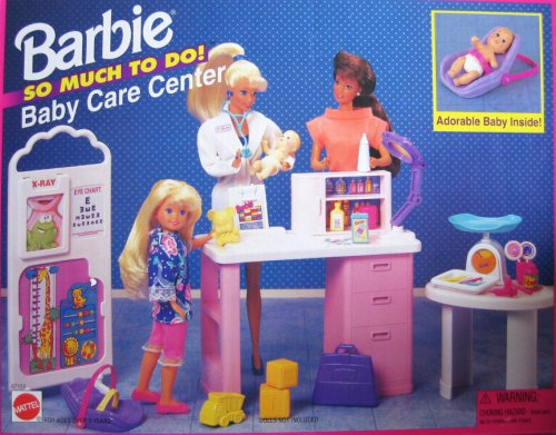 Barbie So Much To Do Baby Care Center Playset (1995 Arcotoys, Mattel) (Center Baby Nursery Doll)