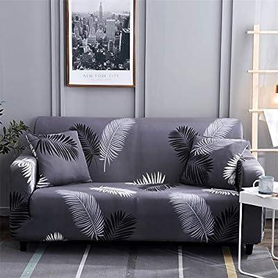 Hotniu Funda de sofá Impresa para 1 2 3 Sofá de 4 plazas-Spandex Ajuste elástico con Funda de sofá-Funda de sofá antirrugas Antideslizante fácil de ...