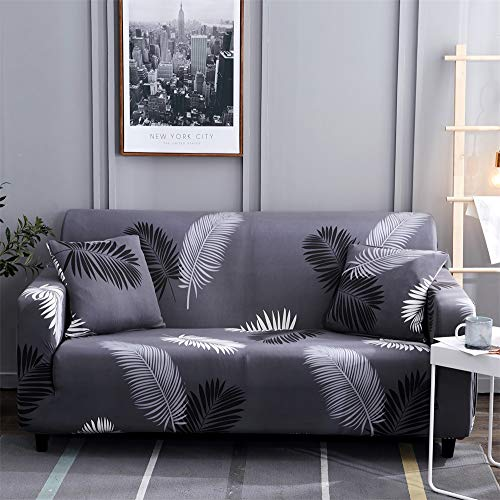HOTNIU Printed Sofa Slipcover for 1 2 3 4 Seater Couch - Spandex Stretch Fit with Elastic Strap Sofa Cover - 1-Piece Easy-Going Anti-Wrinkle Slip Resistant Couch Cover (Pattern #HYY, Chair) (3 Seater 2 Seater)